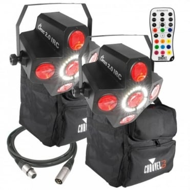 DJ Lighting Circus 2.0 IRC Disco LED Effect & Strobe inc Bags, Leads & Controller