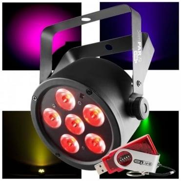 DJ SlimPAR Slim Par T6 USB High Output RGB LED Wash Light Uplight Inc D-fi USB