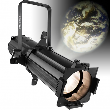 EVE E-50Z Warm White LED Ellipsoidal Spot / Gobo Projector with D-Fi