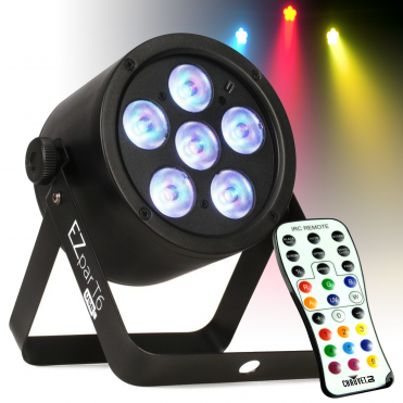 EZpar T6 USB Battery Operated Tri-Colour RGB LED Par Effect Wash Light