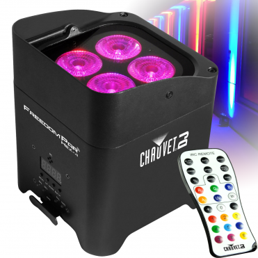 Freedom Par Hex 4 LED Uplighter Battery Powered Wireless DMX + Remote