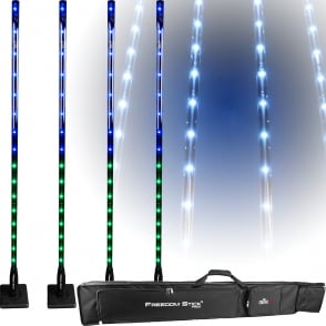 Chauvet Freedom Stick Pack Free-standing LED Light Fixture inc Remote & Bag