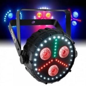 FXPar 3 Quad Colour RGB UV SMD LED Par Can Wash / Strobe DMX Light Effect
