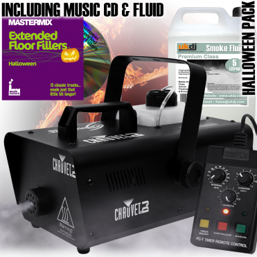 Halloween Smoke Mist Fog Effect Machine DJ Party Pack 14 Inc Fogger Fluid & DJ CD