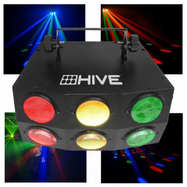 Hive RGB 18 x 3W LED High Power Beam Effect DMX Light Disco DJ