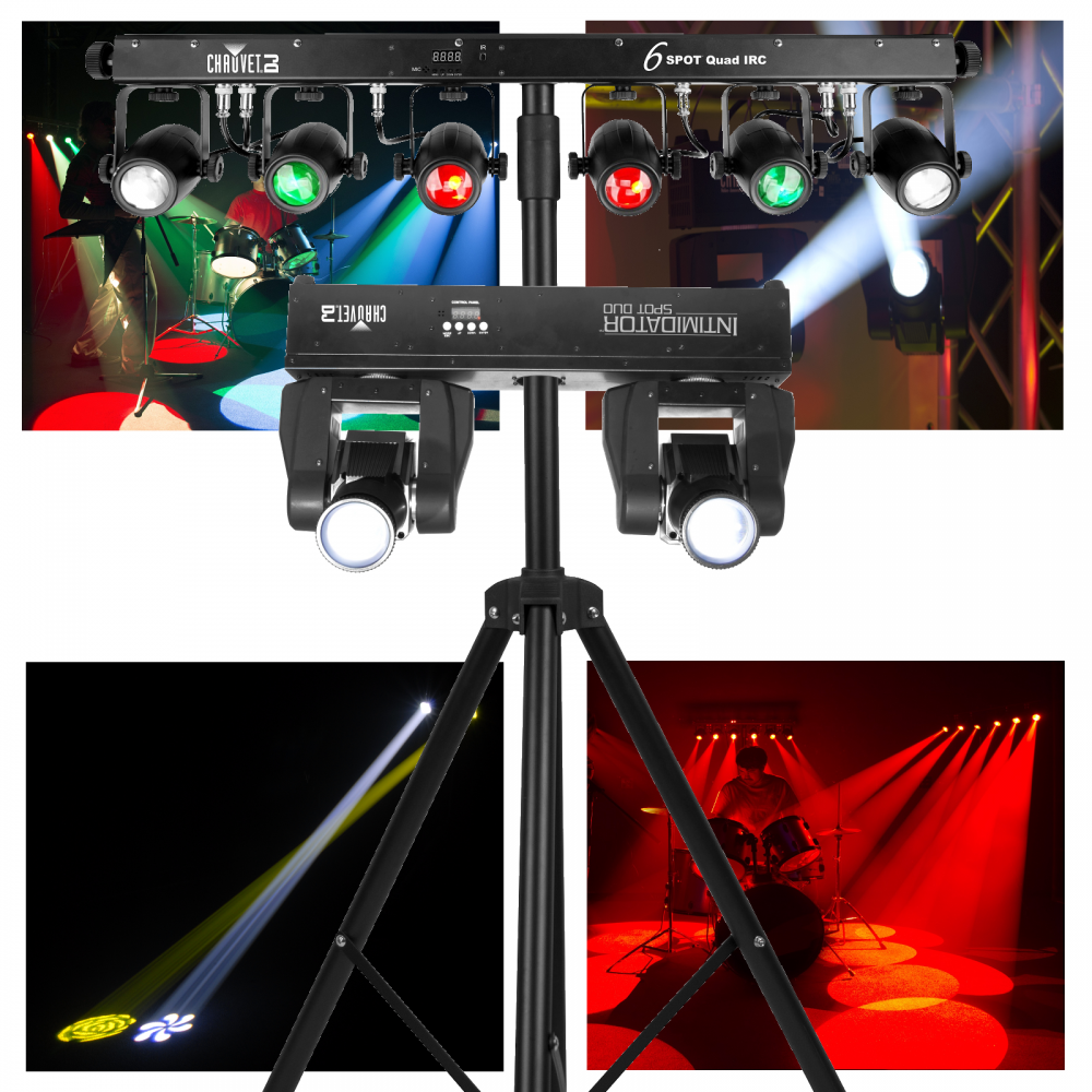 chauvet intimidator duo 6spot quad irc led combination. Black Bedroom Furniture Sets. Home Design Ideas