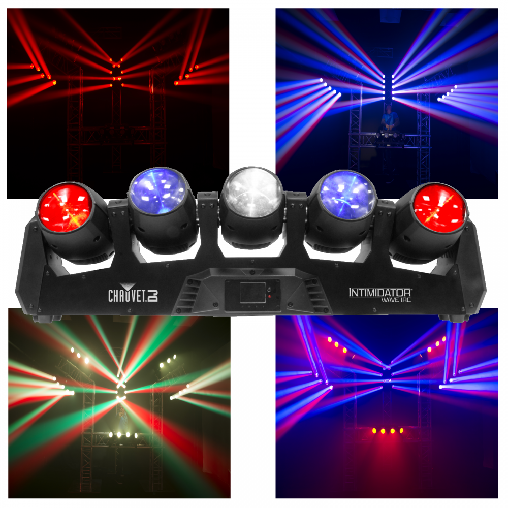 Intimidator Wave Irc 5 X Moving Heads Led Dmx Lighting