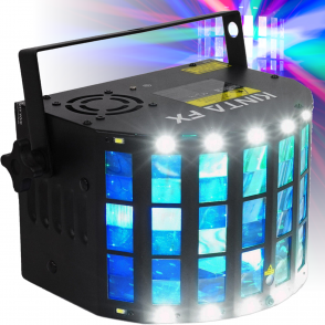 Mini Kinta 3-in-1 FX DJ DMX RGBW LED Laser Strobe Effect Light IRC