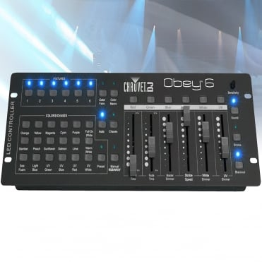 Obey 6 Universal DMX Lighting Controller for LED Lighting Effects FX