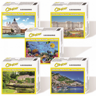 Liesure 1000 Piece Jigsaw Puzzle - All Five Package Price Ages 12- 112