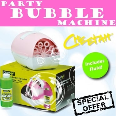Pink Party Bubble Battery Machine * FREE FLUID * Kids Birthday Girls