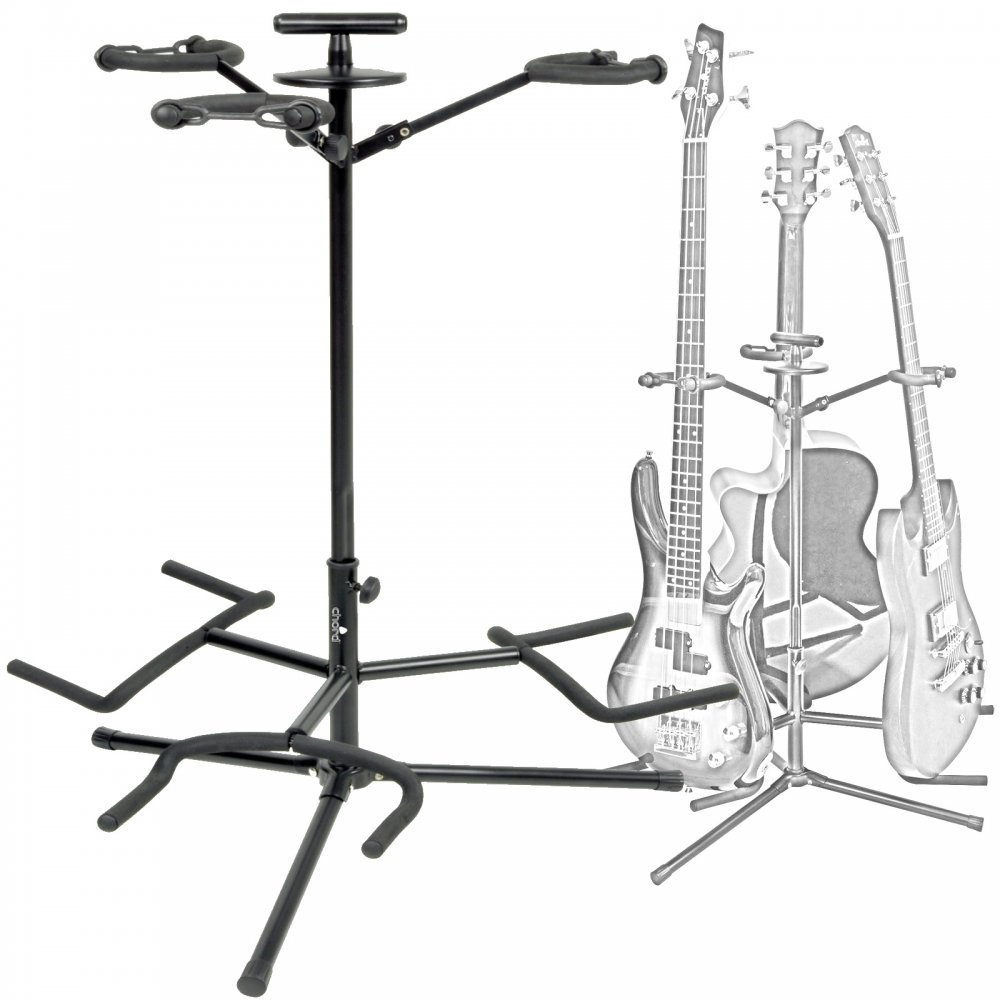 3 Way Electric Acoustic Guitar Stand With Neck Support