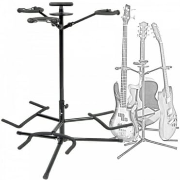 3-Way Electric & Acoustic Guitar Stand With Neck Support Anti-Scratch Paint