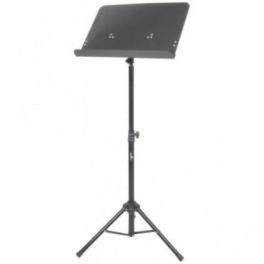 Black Sheet Music Stand - Large Solid Metal Sheet Holder (470 x 325mm)