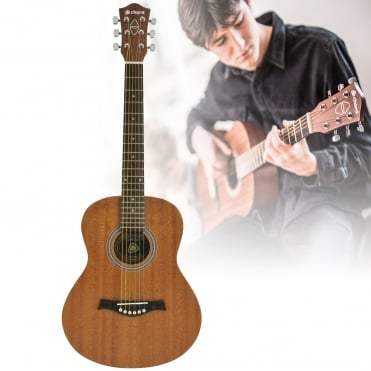 Down-Scaled Western Style Sapele Compact Acoustic Guitar for Young Leaners