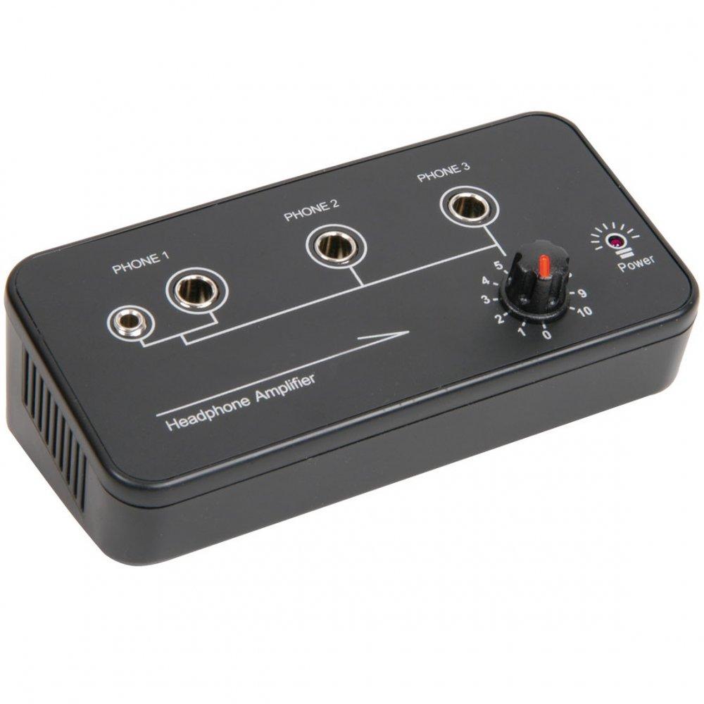3 Channel Headphone Amplifier Audio Splitter Portable Compact Desk Top