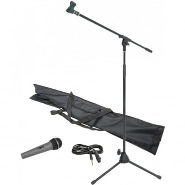 Professional Microphone & Stand Kit Inc Holder and Lead