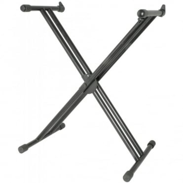 Quick Release Anti-Slip Hight Adjustable Double X Frame Keyboard Stand