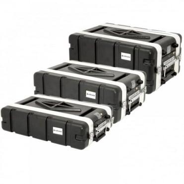 "ABS 19"" Rack Mountable Shallow Transport Flight Cases"