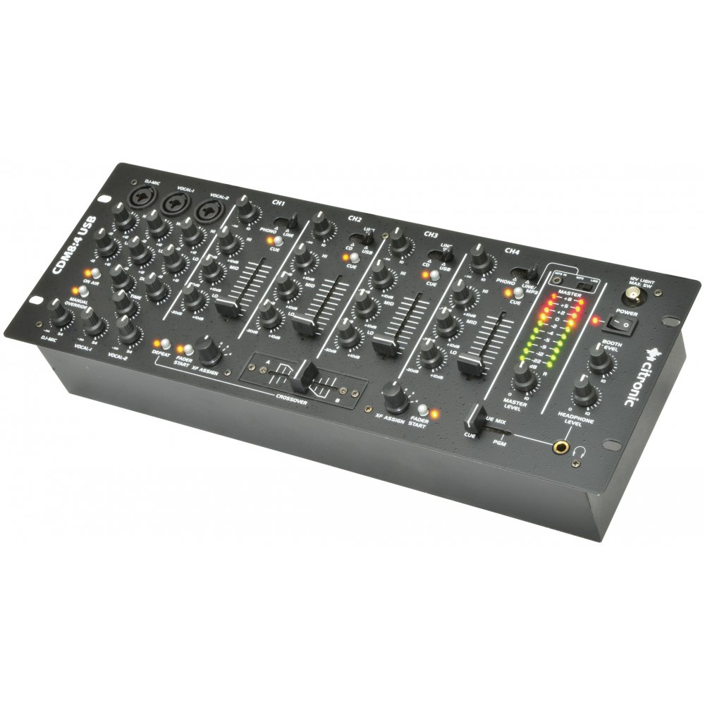 cdm8 4 usb 14 input 19 rack dj mixer. Black Bedroom Furniture Sets. Home Design Ideas