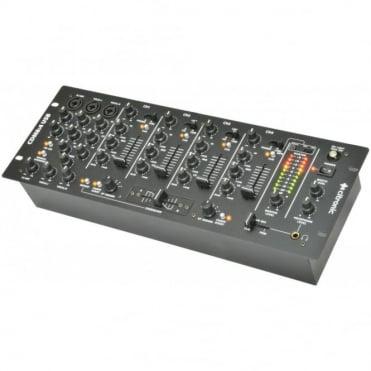 """CDM8:4 USB 14 Input 4 Channel 19"""" Rack DJ Mixer 3 Mic Channels"""