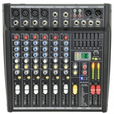 CSP 4-Channel Compact Powered Mixer Amplifier 400w RMS Digital DSP FX