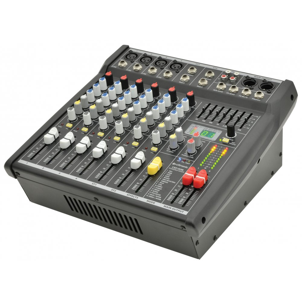 csp 4 channel compact powered mixer amplifier 400w rms digital dsp fx. Black Bedroom Furniture Sets. Home Design Ideas