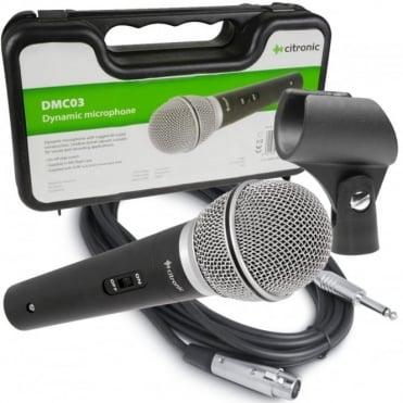 DMC-03 Quality Wired Dynamic Microphone DJ PA Karaoke Vocal Mic DMC03