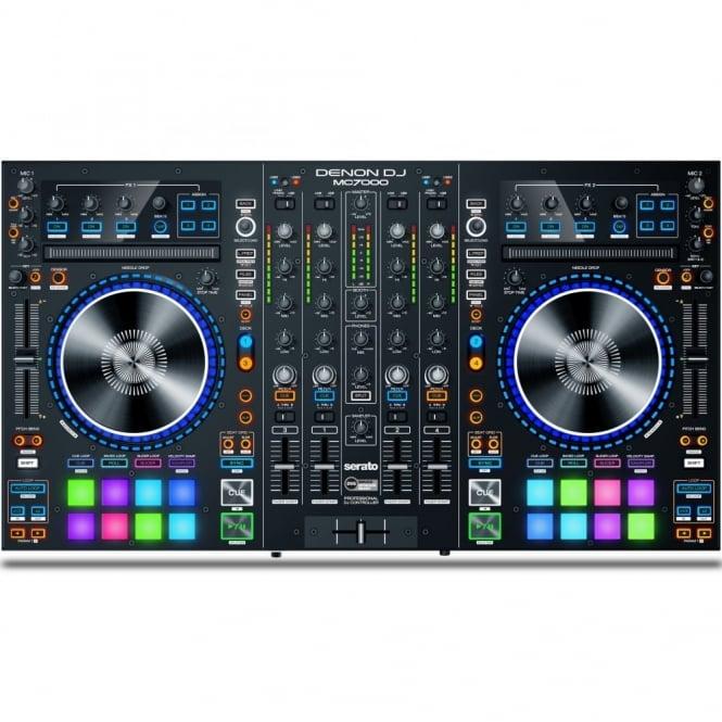 Denon MC7000 Professional 4-Channel Serato DJ Controller with Dual USB