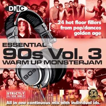 Essentail 90's Warm Up Monsterjam Vol 3 - Ivan Santana Megamix CD