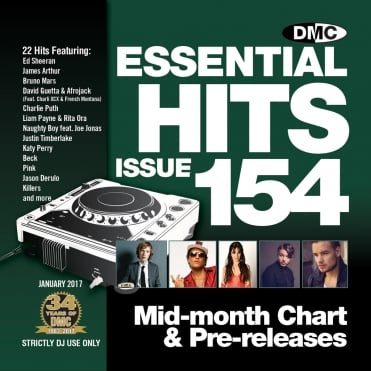 Essential Hits 154 Chart Music DJ CD - Latest Releases of Radio Edit Tracks