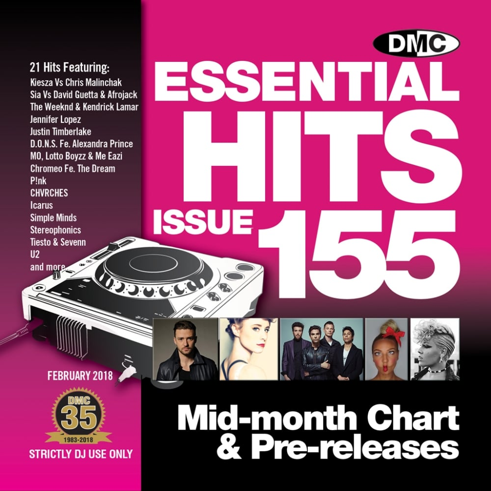 Essential Hits 155 Chart Music DJ CD - Latest Releases of Radio Edit Tracks