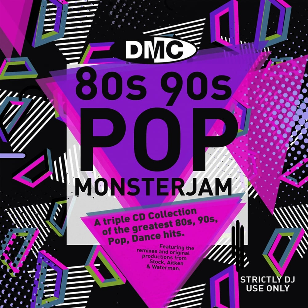 Monsterjam 80s & 90s Contiuous Megamix CD's - Triple CD Pack