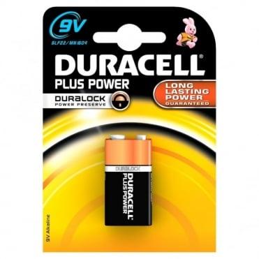 1 x PP3 Plus Power Battery Alkaline 6LF22 9V MN1604