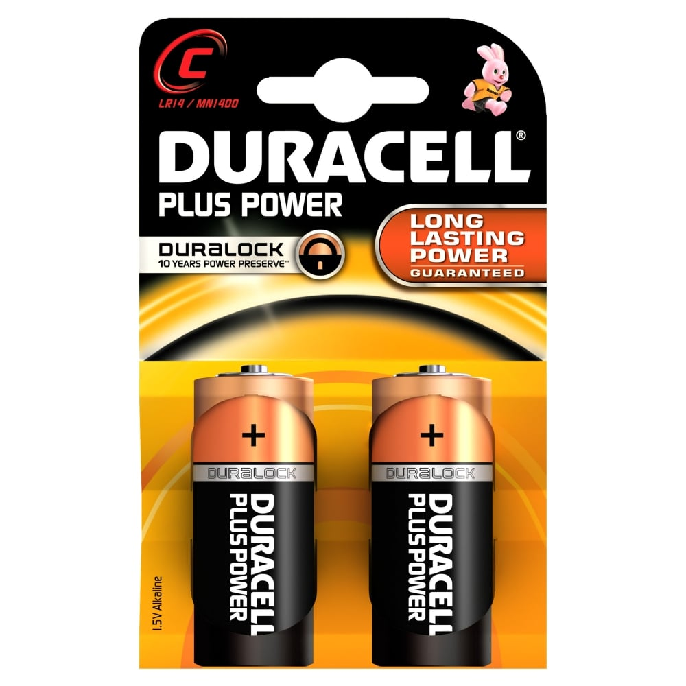 Duracell 2 X C Plus Power Battery Alkaline Lr14 1 5v Mn1400