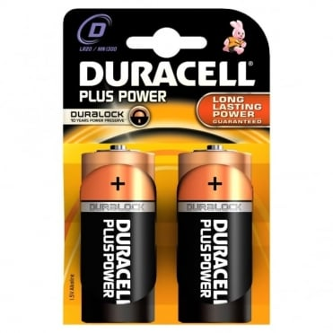 2 x D Plus Power Battery Alkaline LR20 1.5V MN1300