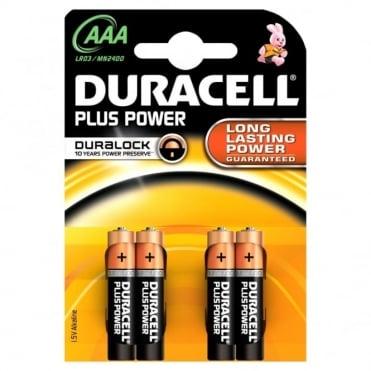 4 x AAA Plus Power Battery Alkaline LR03 1.5V MN2400