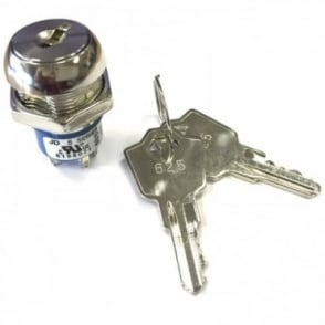 3 Tag Key Switch SPST 2 keys 1 Keypull keyswitch