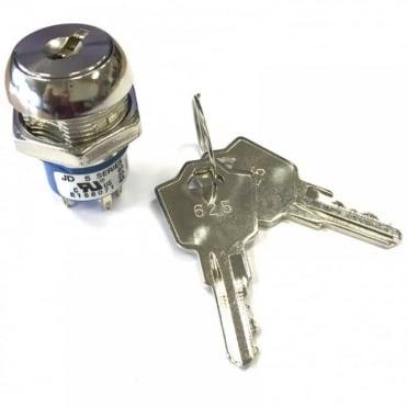 3 Tag Key Switch SPST 2 keys 1 Keypull keyswitch