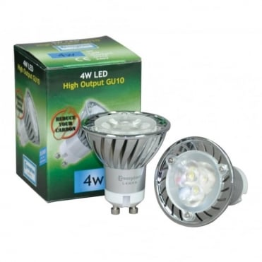4W LED 30000 Hour GU10 Lamp Warm White & Daylight Versions