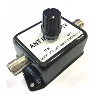 Aerial To TV Variable Signal Attenuator with Coax Line Socket Input and Output