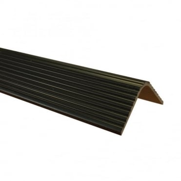 Black Plastic Edging Extrusion 30mm x 30mm 1M Length