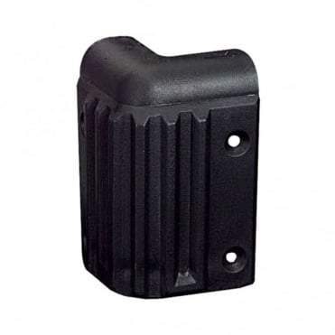 Black Plastic Heavy Duty Stacking Corner 57mm x 57mm x 85mm