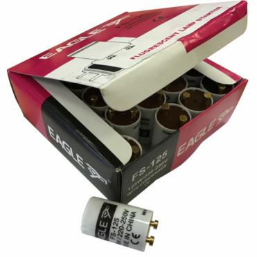 Box of 25 125w Fluorescent Tube Strip Light Lamp Starter FS-125 220-250V