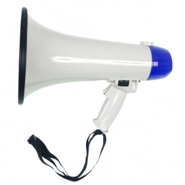Heavy Duty ABS Pistol Grip Megaphone 20w With Siren & Volume Control