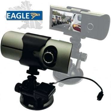 In Car Vehicle Dual Wide Lens Camera Video Recorder GPS Tracking Dash Cam