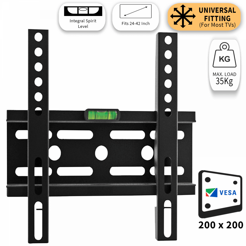 Low Profile Fixed TV Mounting Bracket 24-42 Inch