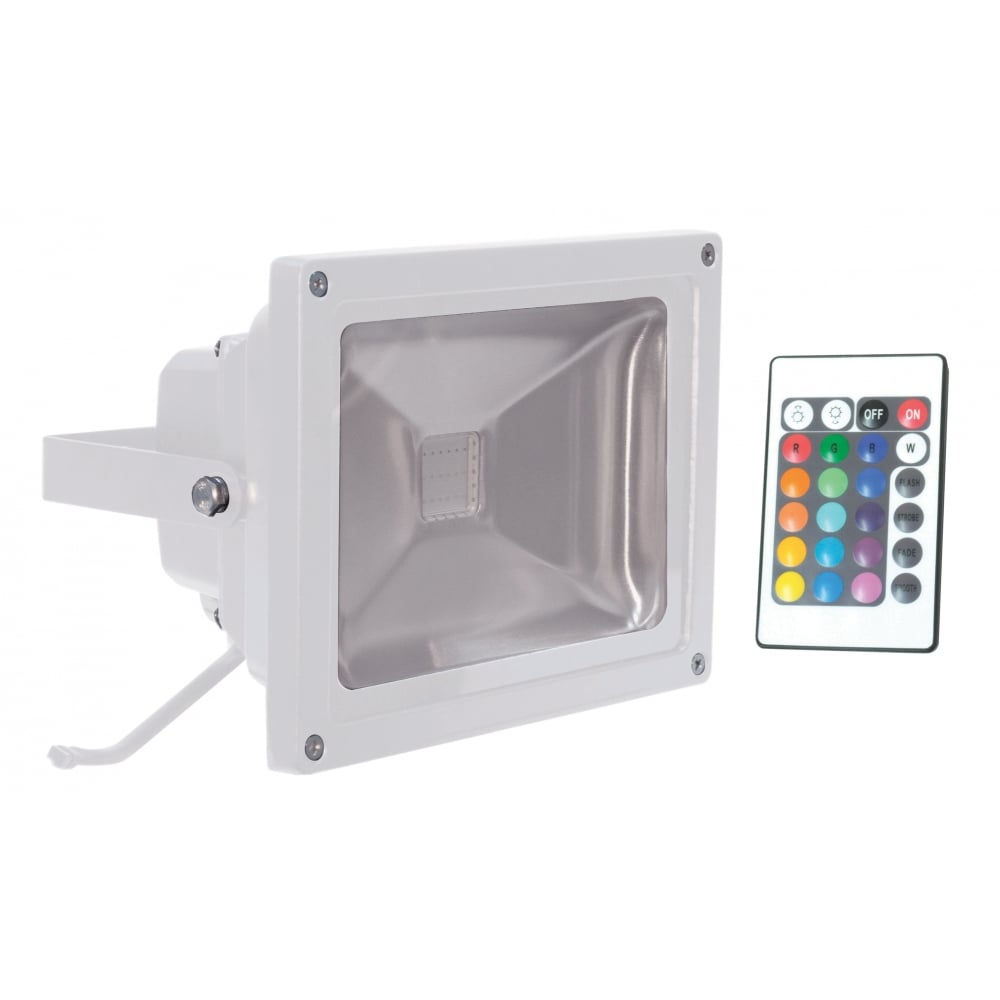 Outdoor IP65 Colour Wash Flood Light RGB Inc Remote For