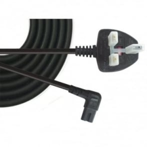 Power Cord UK Plug to Right Angle C7 Figure 8 Fig of 8 Lead Cable
