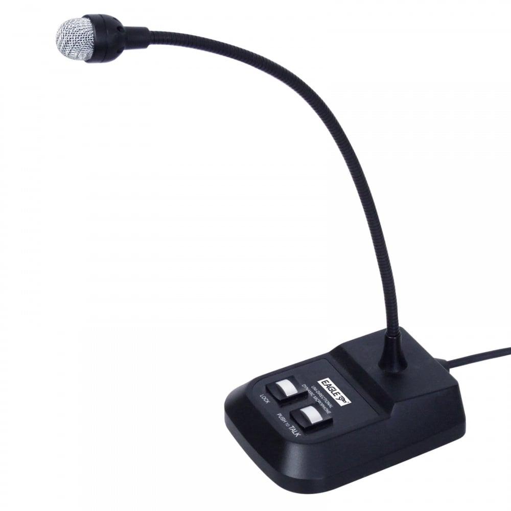 eagle professional desktop dynamic gooseneck paging microphone. Black Bedroom Furniture Sets. Home Design Ideas